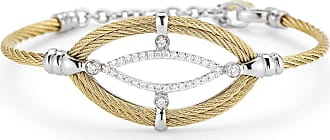 Alór 18k Gold Diamond Station Cable Bangle