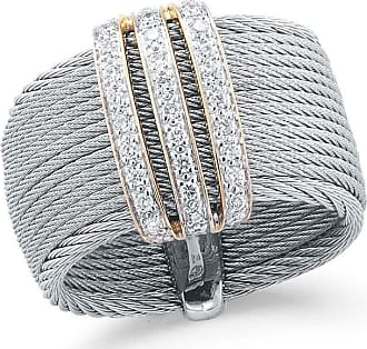 Alór Classique Multi-Row Micro-Cable Band Ring, Size 7, Silver