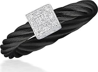 Alór Noir Cable & Diamond Marquise Pendant Necklace