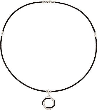 Alór Noir Cable & Diamond Circle Pendant Necklace