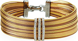 Alór Petra Stacked Cable Bangle w/ Diamonds