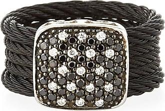 Alór Noir Two-Tone Diamond Oval Bracelet