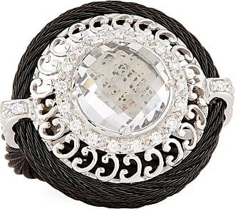 Alór Noir White Topaz Ring, Size 6.5