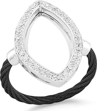 Alór 18k Diamond & Cable Marquise Drop Earrings, Black