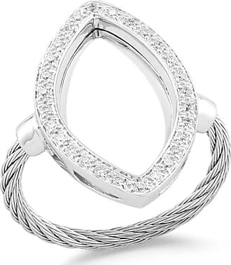 Alór Open Diamond Pavé Marquise Ring, Size 6.5