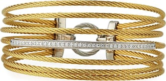Alór 18k Gold Mixed Diamond Cable Bangle