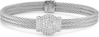 Alór 18k Gold Triple Diamond Cable Bangle