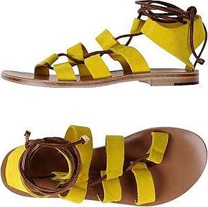Yellow Crocodile Ariana Sandals - Yellow & Orange ÁLVARO GONZÁLEZ