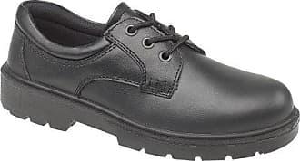 Amblers Aldershot Gibson Damen Leder Schuhe (38 EUR) (Schwarz)