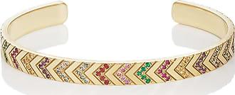 Ambre Victoria Jewelry Womens Mixed-Gemstone Chevron-Engraved Cuff