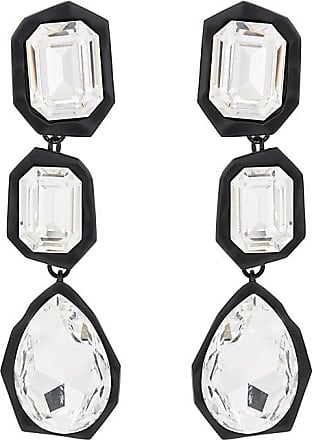 Womens Crystal-Embellished Mistmatched Drop Earrings Chasun Young