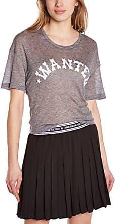 American Retro Vestido con bordado con cuello redondo de manga larga para mujer, talla 36, color negro