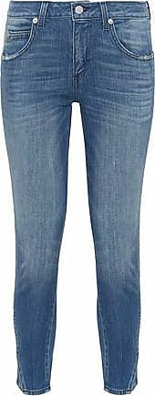 Amo Woman Jane Distressed Mid-rise Kick-flare Jeans White Size 28 Amo