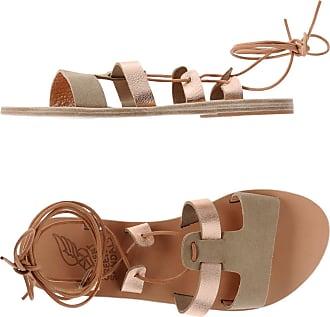 Sandalias de Mujer Baratos en Rebajas, Platino, Piel, 2017, 36 37 38 39 Ancient Greek Sandals