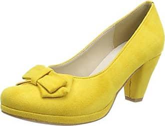 HIRSCHKOGEL 3004550, Zapatos de Tacón con Punta Cerrada para Mujer, Amarillo (Gelb 051), 36 EU