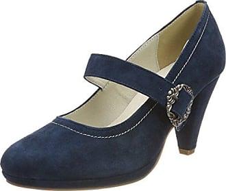 HIRSCHKOGEL 3000507, Zapatos de Tacón con Punta Cerrada para Mujer, Gris (Taupe 066 066), 35 EU