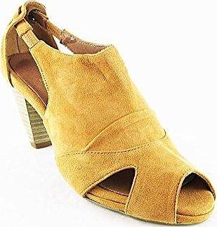 Andrea Conti High Heels Schuhe Sandaletten Sandalen Echtleder Cognac 2041