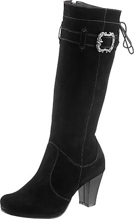 Andrea Conti Stiefel mit Schnürung, schwarz, schwarz