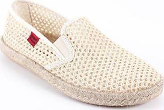 Andres Machado - Unisex Slip-On Schuhe aus dunkelblauem Stoff in Netzstruktur. Gummisohle mit Jute-Rand. Gr. 43