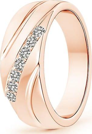 Angara Channel-Set Slanted Diamond 7-Stone Wedding Band for Him
