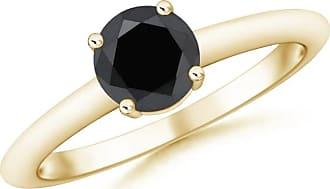 Angara Classic Solitaire Enhanced Black Diamond Ring(5.8mm)