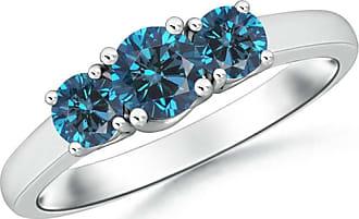 Angara Enhanced Blue Diamond Solitaire Ring(5.8mm)