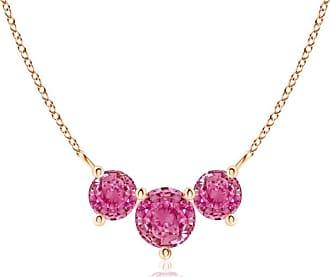 Angara Classic Trio Sapphire Necklace