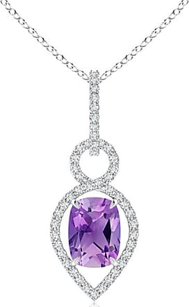 Angara Brown and White Diamond Infinity Pendant - Angaras Coffee Diamond