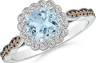 Angara Brown Diamond Cluster Halo Ring in Platinum - Angaras Coffee Diamond