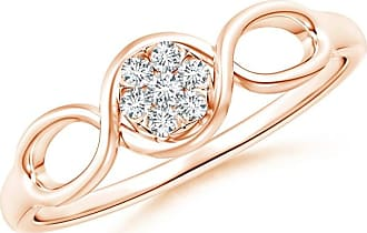 Angara Double Helix Diamond Cluster Promise Ring