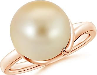 Angara Freshwater Cultured Pearl Ring with Spiral Metal Loop