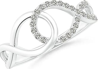 Angara Interlinked Open Loop Diamond Infinity Ring