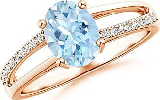 Angara Classic Solitaire Princess Enhanced Blue Diamond Ring(4.9mm)