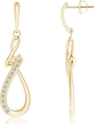 Angara Pave Diamond Abstract Infinity Drop Earrings