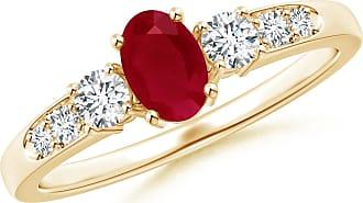 Angara Cushion Natural Emerald Engagement Ring in 14k Rose Gold