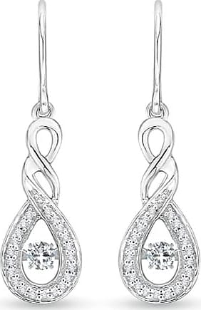 Angara Rocking Diamond Infinity Drop Earrings in Rose Gold