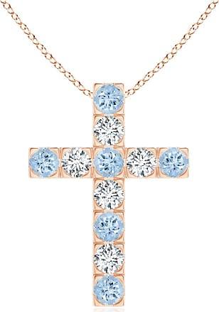 Angara Prong-Set Diamond Mini Cross Pendant