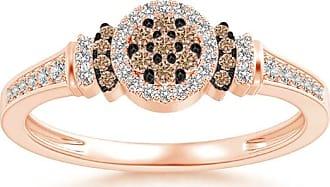 Angara Brown Diamond Collar Engagement Ring in Rose Gold