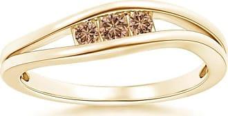 Angara Brown Diamond Three Stone Ring in Platinum - Angaras Coffee Diamond