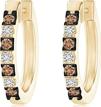 Angara Brown Diamond Stud Earrings in Platinum - Angaras Coffee Diamond