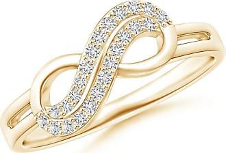 Angara Twin-Row Diamond Infinity Swirl Ring