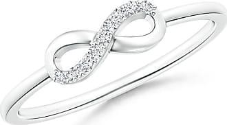Angara Sideways Twist Diamond Accent Infinity Ring