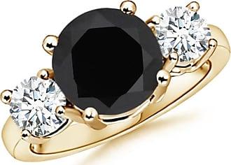 Angara Encrusted Wings Set Black Onyx Ring