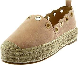 Angkorly Damen Schuhe Espadrilles - Slip-on - Plateauschuhe - Perforiert - Golden - Seil Blockabsatz 3 cm - Rosa 666-12 T 37