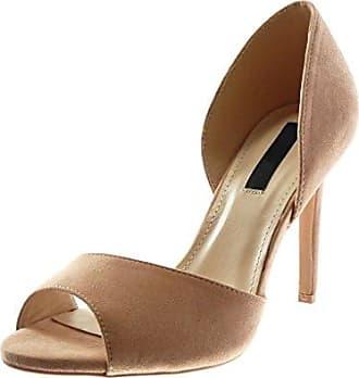 Angkorly Damen Schuhe Pumpe - Slip-on - Stiletto - Dekollete - Krokodil - Patent Stiletto High Heel 5.5 cm - Silber L506-20 T 39