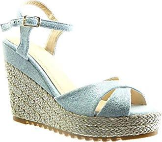 Angkorly Damen Schuhe Sandalen Espadrilles - Plateauschuhe - Seil Keilabsatz High Heel 11.5 cm - Weiß BL206 T 41
