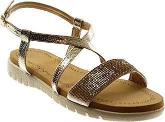 Damen Schuhe Sandalen - Sneaker Sohle - String Tanga - Multi-Zaum - Strass  Flache fd125f3db2