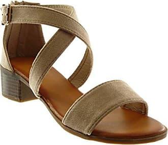 Angkorly Damen Schuhe Sandalen - knöchelriemen - Schleife - Gekreuzte Riemen Blockabsatz High Heel 4 cm - Rot 660-2 T 38