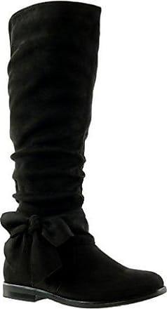 Angkorly - damen Schuhe Stiefel - Reitstiefel - Kavalier - Flexible - Knoten Blockabsatz 2 CM - Camel F2163 T 40