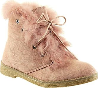 Angkorly - damen Schuhe Stiefeletten - Combat Boots - Biker - Schneestiefel - Nieten - besetzt - Pelz Blockabsatz 2.5 CM - Schwarz RW763 T 40